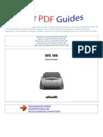 Manual Do Usuário OLIVETTI OFX 180 P (1)