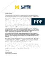 m  harwood letter of recommendation