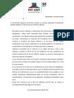 Declaración del Pit-Cnt en rechazo a boicot de Fuecys