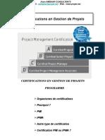 4. Certifications en Gestion de Projets
