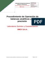 Procedimiento de Operacion de Balanzas Analiticas