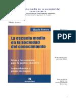 2ROMERO Claudia La Escuela Media en La Sociedad Del Conocimiento