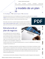 Estructura y Modelo de Un Plan de Negocios