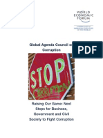 Global Agenda Council on Corruption - Raising Our Game