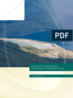 Auditor General report on Mining Enforcement & Compliance