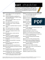 asset checklist