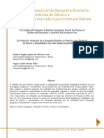 A Produção Intelectual da Geografia Brasileira, entorno das Temáticas de Gênero e Sexualidades