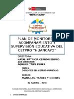 PLAN de Supervision y Monitoreo