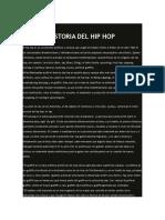 Hstoria Del Hip Hop.