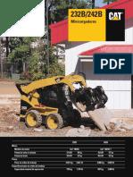 Catalogo Minicargadores 232b 242b Caterpillar Caracteristicas Equipamiento Dimensiones Especificaciones