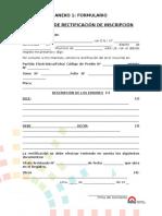Formato Solicitud de Rectificacion de Inscripcion
