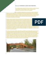 La Madera Para La Construcción de Puentes