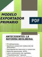 Modelo Exportador Primario
