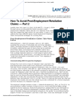 How to Avoid Post-Employment Retaliation Claims — Part 2 - Law360