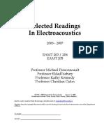 Electroacoustics Readings