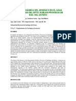 Informe Arsenico en El Agua Subterranea Sgo. Del Estero