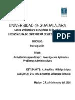 Actividad de Aprendizaje 1 Importancia de La Investigación Aplicada a Problemas Administrativos