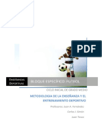 Metodologa de La Enseanza y Entrenamiento Deportivo Aplicada Al Ftbol N1