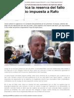 ¿Qué Significa La Reserva Del Fallo Condenatorio Impuesta a Rafo León_ — La Ley - El Ángulo Legal de La Noticia