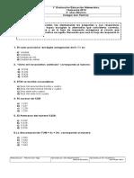 1° prueba Matematicas 3° Basicos