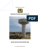 2009 Water Sector Status Report