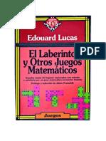Lucas Edouard - El Laberinto y Otros Juegos Matematicos