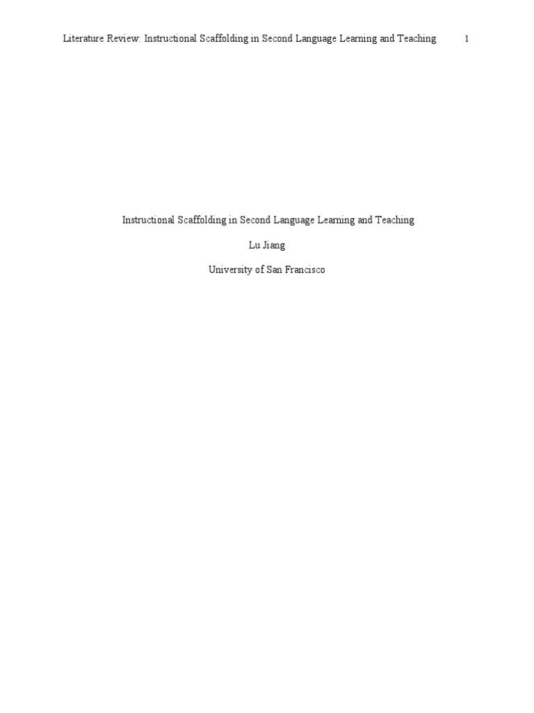 Jiang L Instructional Scaffolding Lit Review Final Second