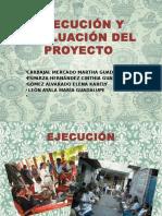 Ejecución y Evaluación Del Proyecto