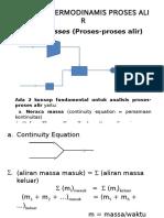 Analisis Termodinamis Proses Alir