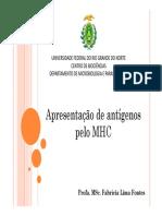 MHC e Apresentação de Antigenos