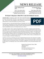 Kaiser Response to Sediment Concerns