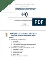 El Amplificador Como Bloque Funcional Esencial Para Los EEAA