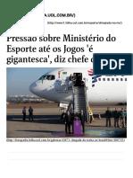 Pressão Sobre Ministério Do Esporte Até Os Jogos 'é Gigantesca', Diz Chefe Da Pasta - Olimpiada No Rio _ Folha