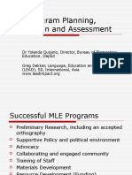 Mle Program Planning Evaluation and Assessment