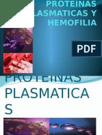Proteinas Plasmaticas y Hemofilia