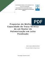 Melhora Da Capacidade de Troca Térmica de Um Reator de Polimerização Em Leito Fluidizado (Metódologia)