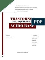 Informe (Trastornos Del Equilibrio Ácido-Base)