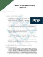 Fundamentos de La Administración de Proyectos