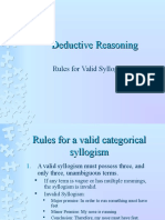 Rules for Valid Syllogisms
