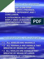 Categorical Syl Log Isms