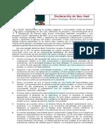 Declaración de San José sobre Turismo Rural Comunitario