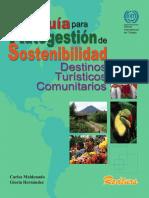 Guía para Autogestión de Sostentibilidad – Destinos Turísticos Comunitarios