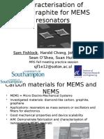 Micromechanical Nanographite Resonators Older