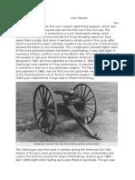 the gatling gun                                    ivan galarza