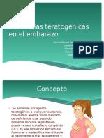 Sustancias Teratogénicas en El Embarazo