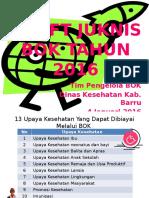 Draft Juknis BOK 2016