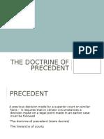 The Doctrine of Precedent