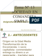 Tema Nº 13 Sociedad en Comanita Simple