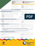 Formulario Registro Examen Internacional Pet 2016 1