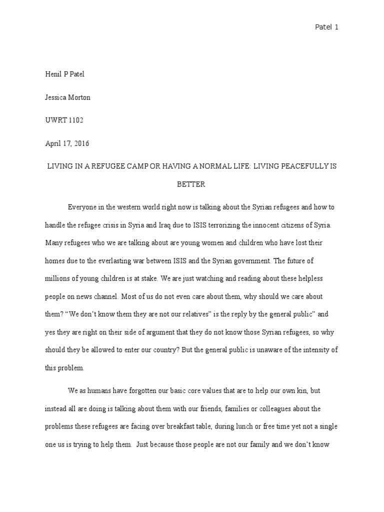 Civil Right Essay  School Uniform Essay also To Kill A Mockingbird Persuasive Essay My Argument Essay   Refugees Of The Syrian Civil War  Refugee What Is An Exemplification Essay